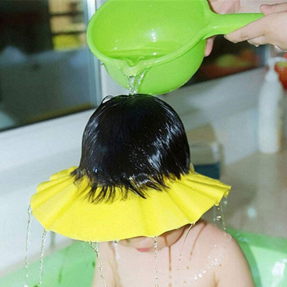 Shampoo Protection Cap Shower Bathing Protection Hat Wash Hair Shield for Toddler Baby Children /& Kids to Keep The Water Out of Eyes/&Face,Pink