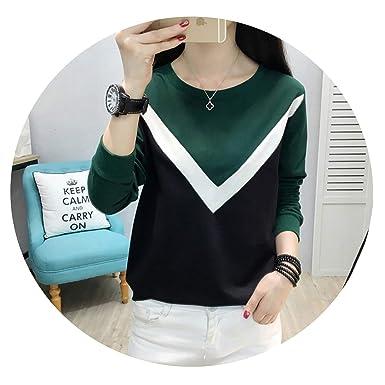 09386cbed Autumn Winter Camisa Feminina t-Shirts Tops Casual poleras de Mujer Moda  tee Shirt,