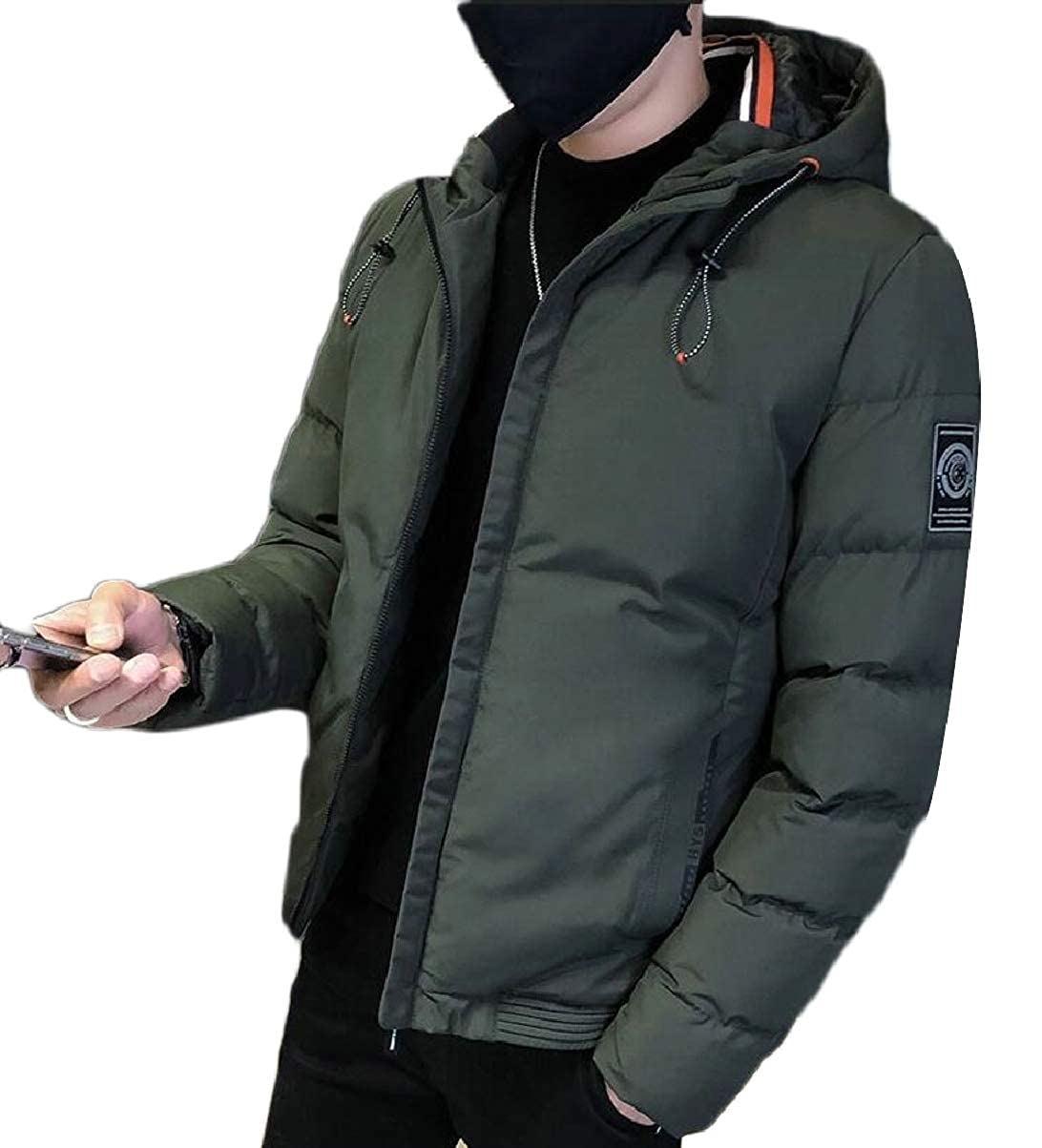 CBTLVSN Mens Slim Fit Thicken Quilted Jacket Parka Down Coat