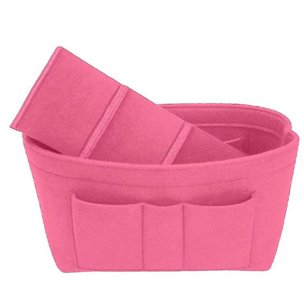 Felt Insert Bag Organizer Bag In Bag For Handbag Purse Organizer, Six Color Three Size Medium Large X-Large (Large, Pink) by ZTUJO (Image #4)