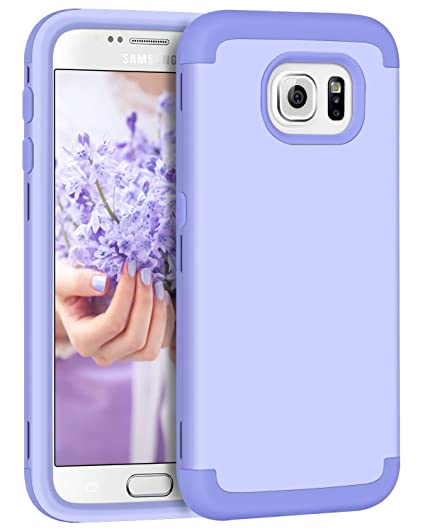 buy popular 7cd0b 9c8db Galaxy S6 Case, Samsung S6 Case, BENTOBEN Shockproof Slim Three Layer Anti  Scratch Heavy Duty High Impact Resistant Soft Silicone Hard PC Hybrid ...