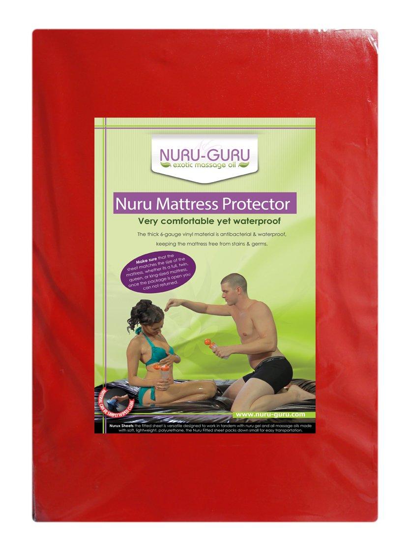 Nuru Mattress Protector Nuru Sheet Waterproof(red) (King) by Nuru Guru