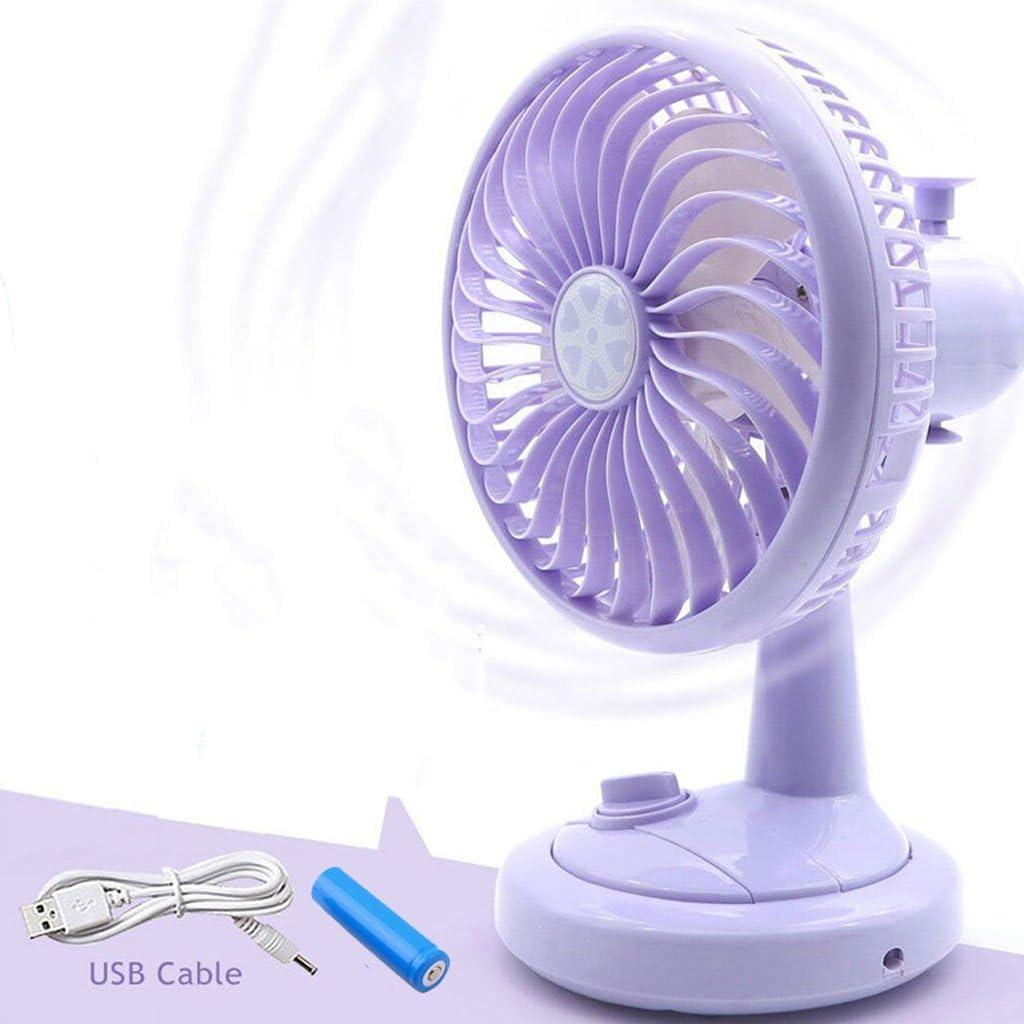 ZWS Portable Fan 6 Inch USB Moving Head Fan Color : Green Rechargeable Student Dormitory Office Desktop Ultra-Quiet Mini Fan Fan Indoor and Outdoor Travel Portable Fan Heat Dissipation