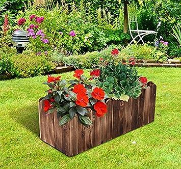 80lx 33 Wx30h Cm Holz Fir Blumenkubel Hochbeet Aus Tannenholz Und