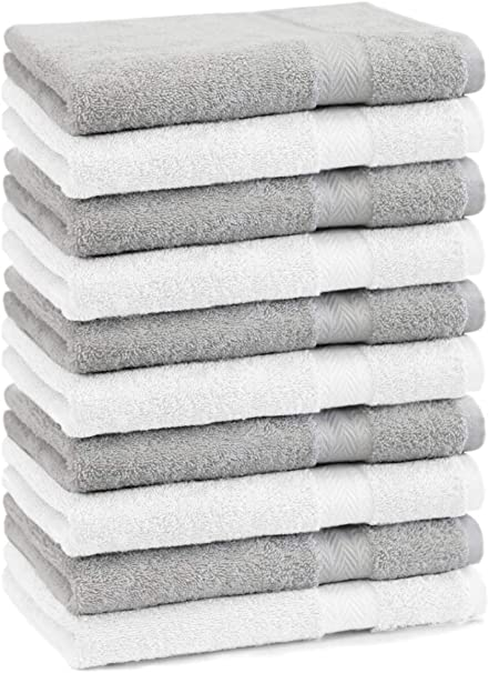 Gris Anthracite Betz Lot de 10 Serviettes dinvit/é Taille 30 x 50 cm 100/% Coton qualit/é 600g//m/² Gold Couleur