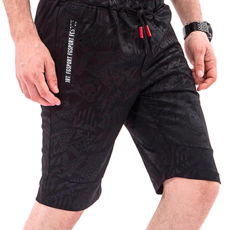 OHQ_Pantalones Cortos De Entrenamiento Para Hombres Hombres Overol CráNeo Casual Pocket Playa Work Casual Short Pantalones… O6VNYwW