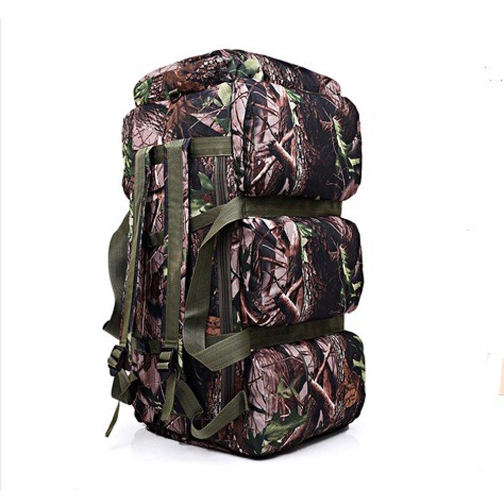 zmsdtアウトドアバッグ肩バッグオス90l大容量キャンプバッグテントチェック荷物self-drivingポータブル軍事バッグ迷彩バッグ  Camouflage 3 B07FB5WX49