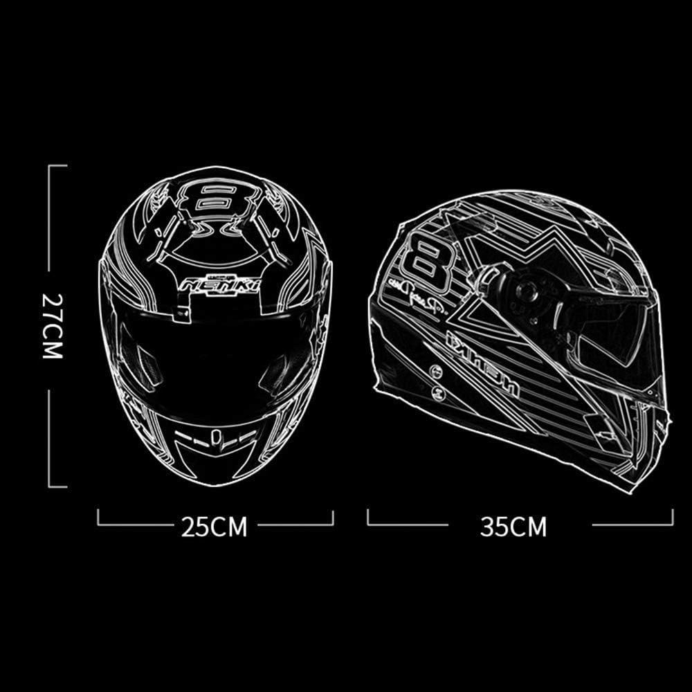 Offroad-Rennsport Downhill-Helm M/ännlich NBZH Hochwertiges Motorradhelm Full Face Helm Doppel-Objektiv Running Helm Motocross Helm