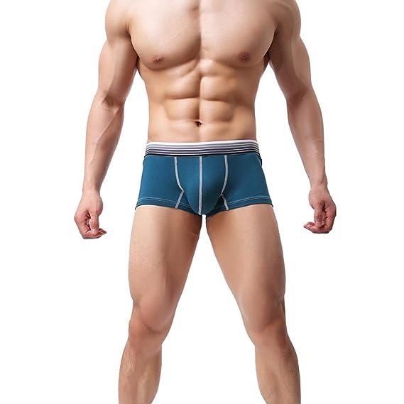 Ropa Interior Bóxers Básicas Hombres,LILICAT® Underwear Calzoncillos de Bolsa Abultada Casual,Bóxers