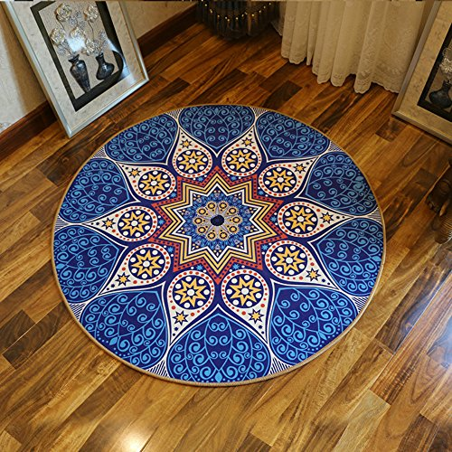Sytian 100x100cm Bohemian Design Decorative Morden Shaggy Area Rug Soft Bedroom Rug Living Room Carpet Non-slip Bath Mat Bathroom Shower Rug Cute Unique Kids Playing Mat Crawling Pad by Stay Young