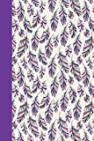 Journal: Feathers (Purple) 6x9 - LINED JOURNAL - Journal with lined pages - (Diary, Notebook) (Birds & Buttterflies Lined...