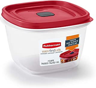 product image for Rubbermaid 7 cups Food Storage Container 3 Pack Clear