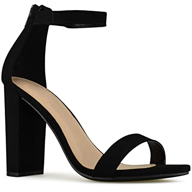 7b1db91945c2 Premier Standard - Women s Strappy Chunky Block High Heel - Formal