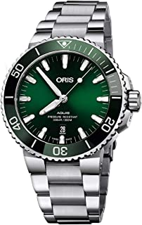 Oris Aquis Date Green Dial 43.5mm Steel Mens Watch - Reference: 01 733 7730