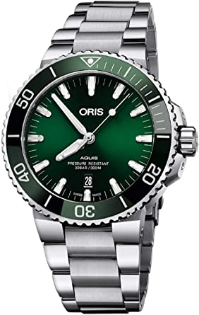 075ca34779b Image Unavailable. Image not available for. Color  Oris Aquis Date Green  Dial 43.5mm Steel Men s Watch ...