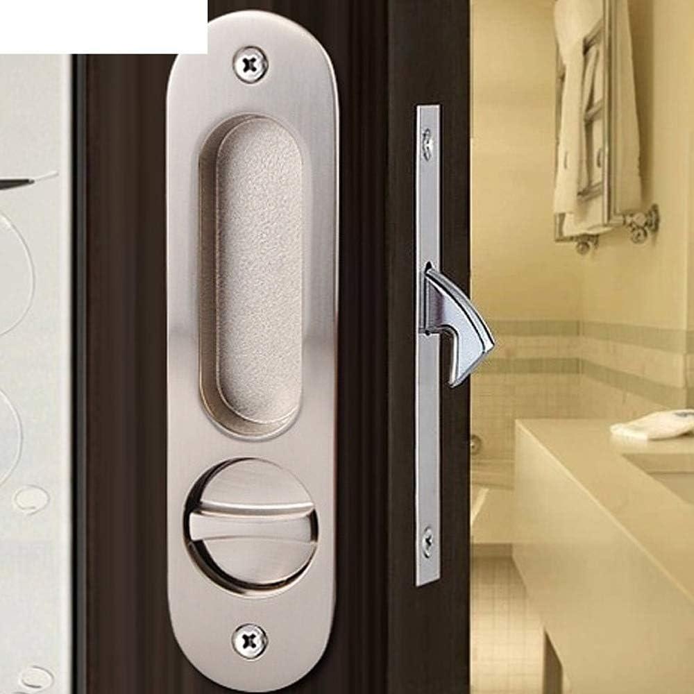 Bathroom Lock Easy Installation Invisible Door Lock Sliding Door Lock Hook Lock Stainless Steel Hidden Handle Bathroom Lock Locker Lock
