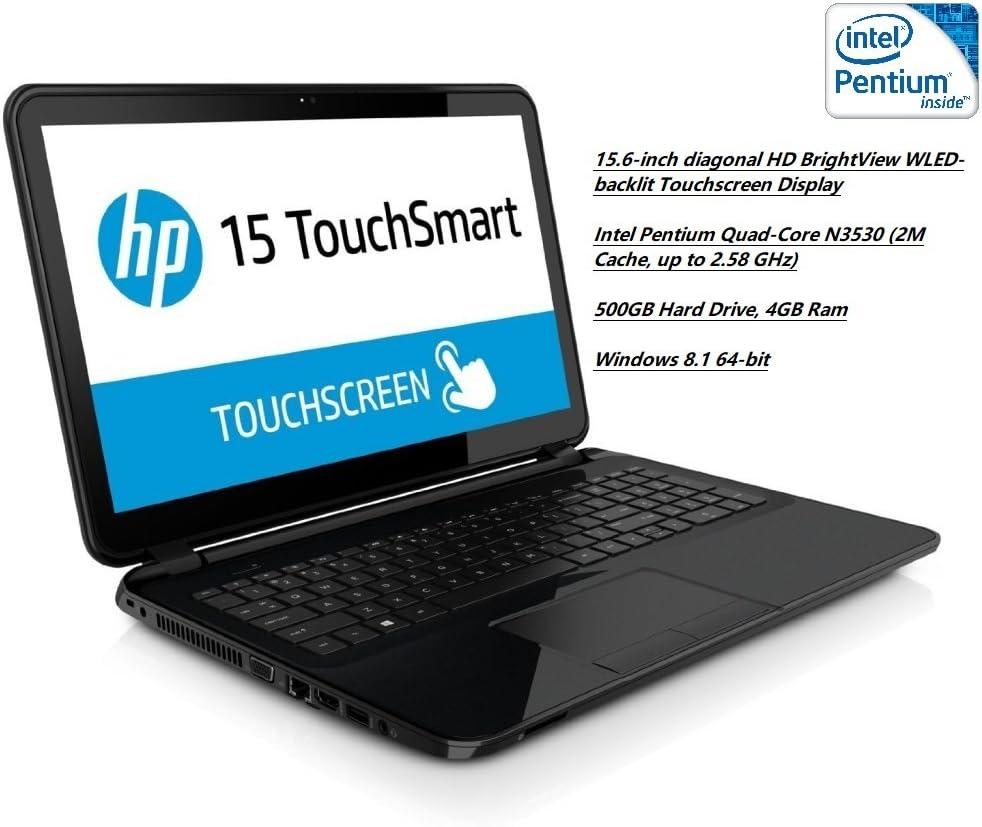 "HP 15-r063nr 15.6"" Touchscreen Laptop / Intel Pentium Quad-Core N3530 2.16 GHz / 4GB Memory / 500GB Hard Drive / SuperMulti DVD / Windows 8.1"