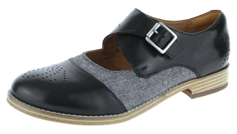 Clarks Zyris Nova - Zapatos de cordones de Piel para mujer negro negro 37.5 EU