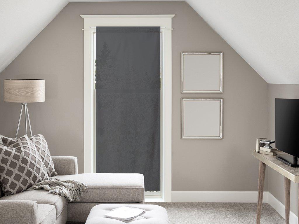 Soleil d'ocre Tenda in voile per porta finestra in cotone 70x200 cm PANAMA antracite SELARTEX 046103