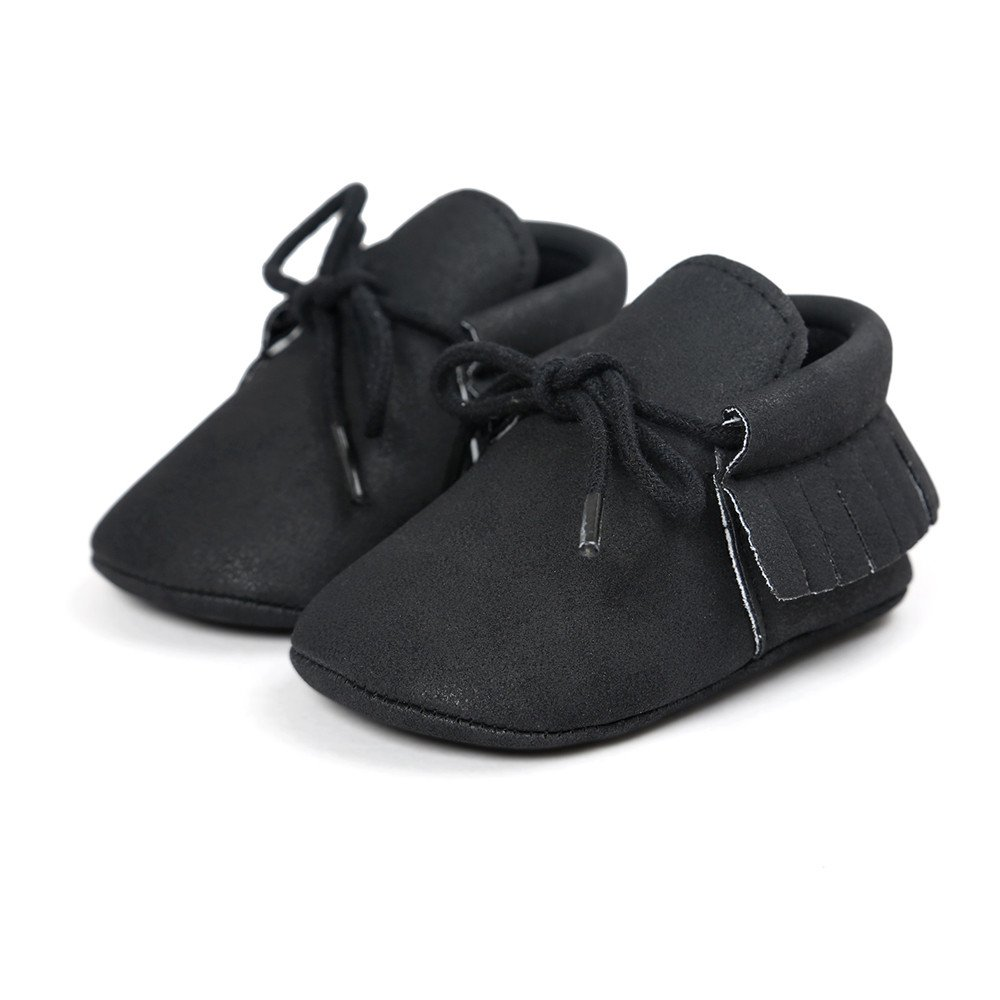 Seaintheson Baby Girls Shoes Toddler Infant Baby Girls Tassels Sneaker Bandage Soft Sole Sport Shoes Casual Flats