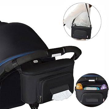 Amazon.com : Stroller Organizer, Yuccer Parent Console for Stroller Universal Stroller Storage for Baby Stroller Bag for Diaper, Bottle, Toy, Paper Towels ...