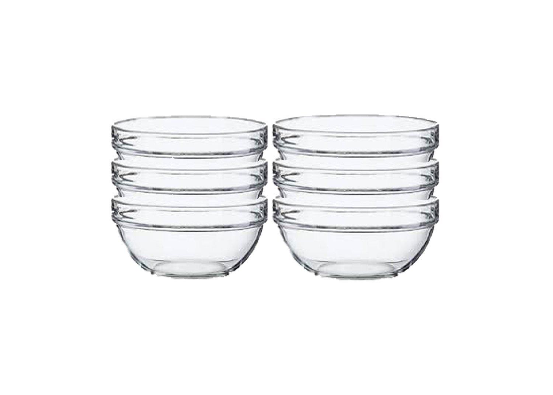 Lauryn Janae Prep Bowl Glass, 3.5'' Inch, Clear (Set of 6) by Lauryn Janae (Image #2)