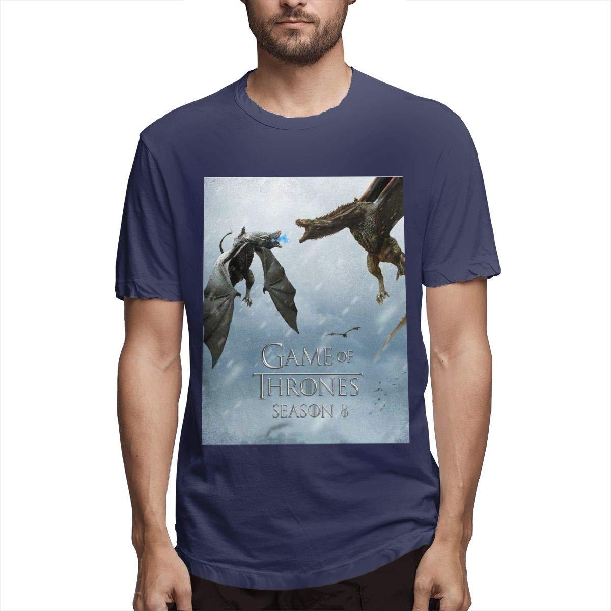 Kinggo Printing Comfortable Game Of Thrones Short Sleeve Humor T Shirts Black