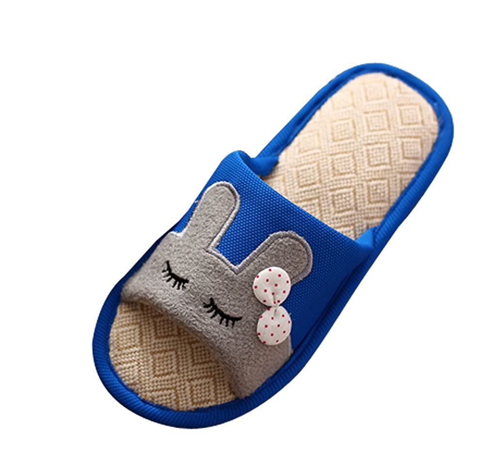 Cattior Womens Cute Flax Bunny Slippers House Slippers