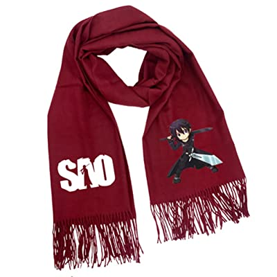 Gumstyle Sword Art Online SAO Soft Winter Scarf Warm Scarves With Tassels