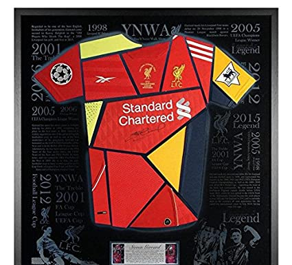 Signed Steven Gerrard Liverpool FC Shirt Montage - Exclusive Framed LED  Display - Autographed Soccer Jerseys at Amazon s Sports Collectibles Store 4defa2bc4