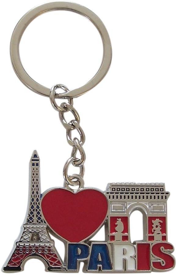 M/étal G/én/érique 0814 Porte cl/és Paris et Ses Monuments en Alliage Argent 3,5 x 0,5 x 9,5 cm H.42 X l.35 mm