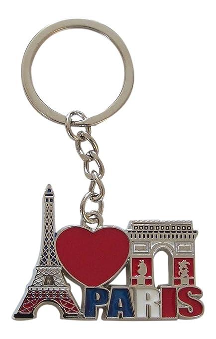 Générique Llavero, diseño de Torre Eiffel y Arco del Triunfo, de Metal, Francia, París, B2