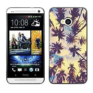 Be Good Phone Accessory // Dura Cáscara cubierta Protectora Caso Carcasa Funda de Protección para HTC One M7 // los Angeles sun summer sky nature city