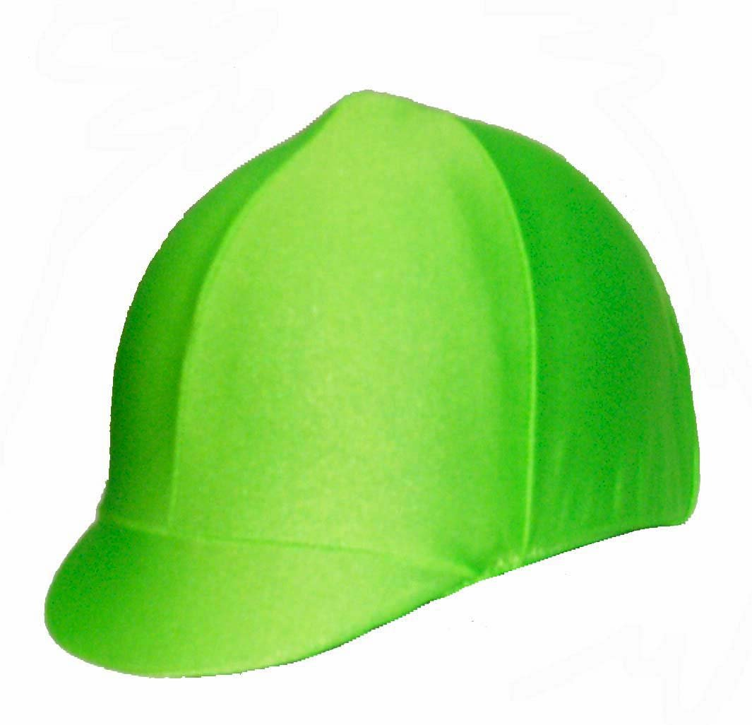 Equestrian Riding Helmet Cover - Lime Green
