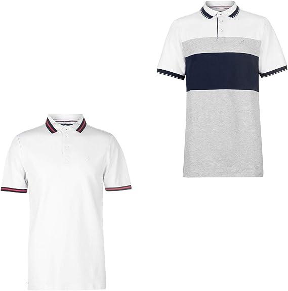 Official Brand Kangol Slim Fit Polo Shirt Mens White Large: Amazon ...