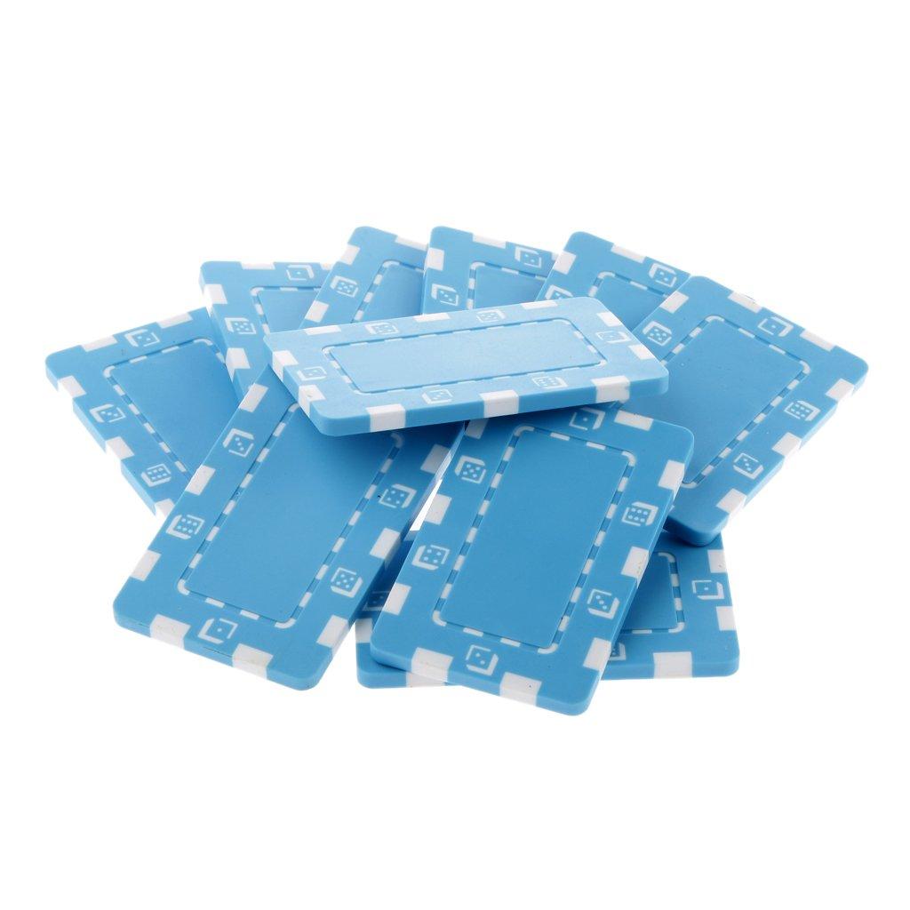 10pcs Magideal Rectangulaire Jetons de Poker Puces En Céramique Pour Mahjong Et Poker Texas Jouet D'enfant - Orange, /