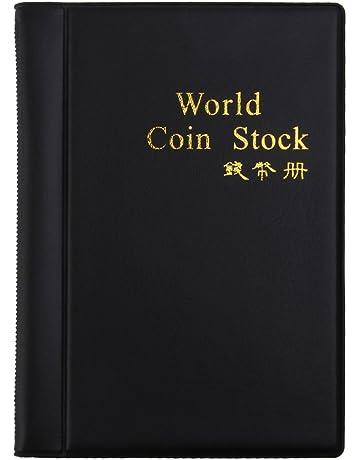 4ad1bfabda NUOLUX Raccoglitore per collezione di monete, 120 tasche(nero)