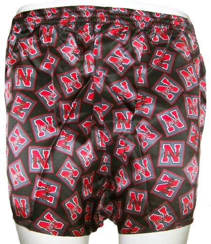 Merge Left College Classics UNIVERSITY OF NEBRASKA CORNHUSKERS 100% Silk Boxers