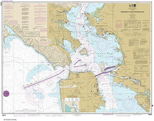 NOAA Chart 18649: Entrance to San Francisco Bay (Traditional Paper) 35.3 x 45