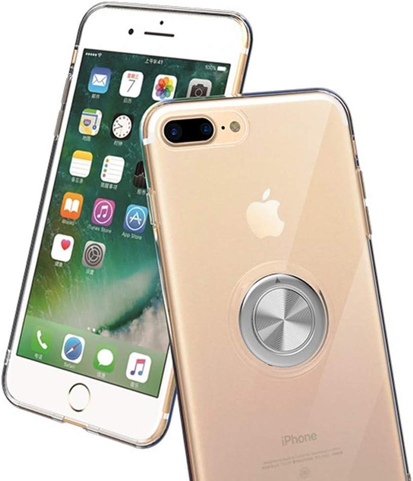 Jinghuash Kompatibel mit iPhone 7 Plus H/ülle,Handyh/ülle iPhone 8 Plus Ultrad/ünn TPU Silikon PC Hart Case mit Ring St/änder Glitzer Diamant Strass Pl/üsch Ball Schutzh/ülle Damen M/ädchen,Gr/ün