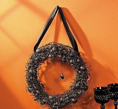 Black Spider Wreath - Halloween Decor