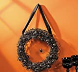 Black Spider Wreath - Halloween Decor