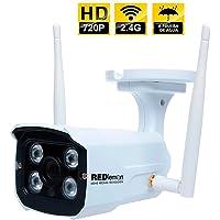 RedLemon Cámara de Seguridad para Exteriores WiFi IP, High Definition, contra Agua, Detección de Movimiento, Resolución 1280x720P. Sin Memoria