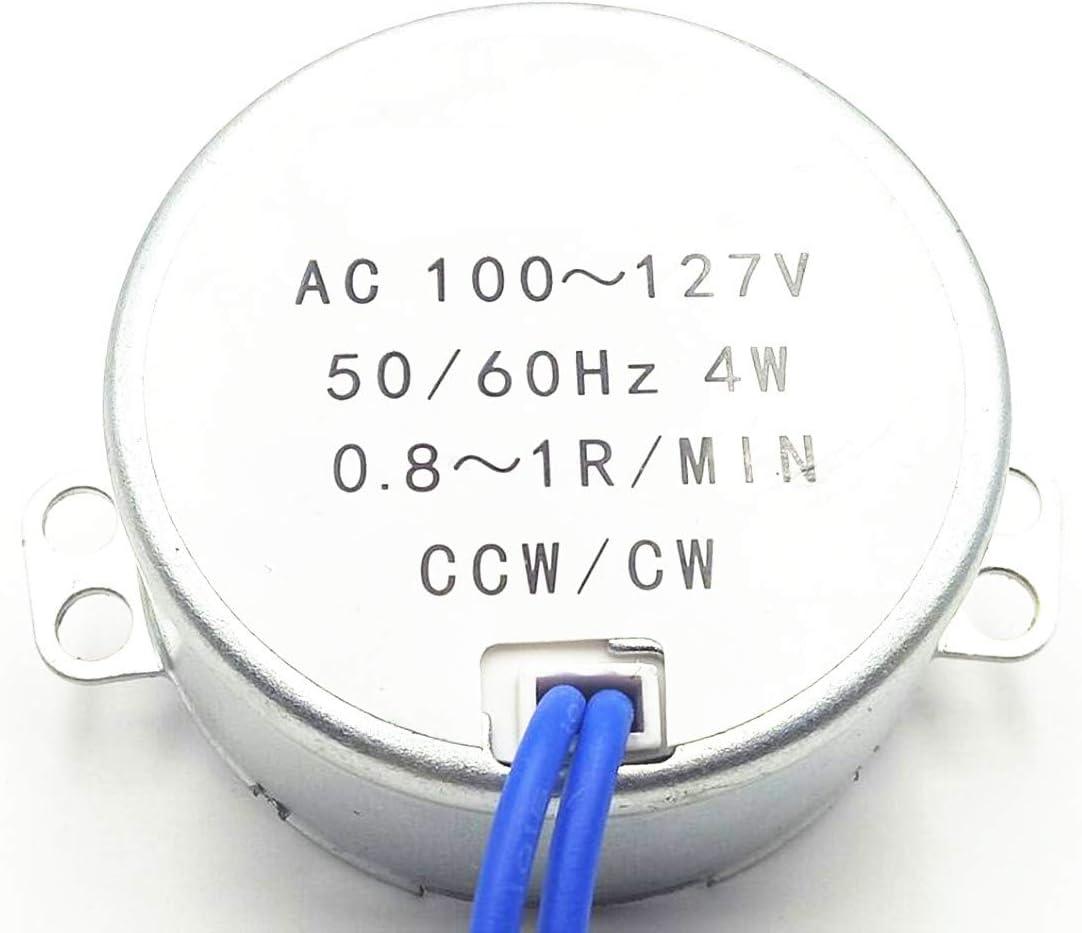 CCW//CW Direction 4W 50//60Hz 0.8-1RPM AC 100-127V Electric Synchronous Motor Kit