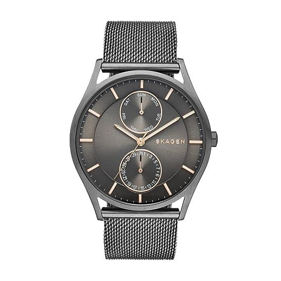 Skagen Reloj Analógico para Hombre de Cuarzo con Correa en Acero Inoxidable SKW6180
