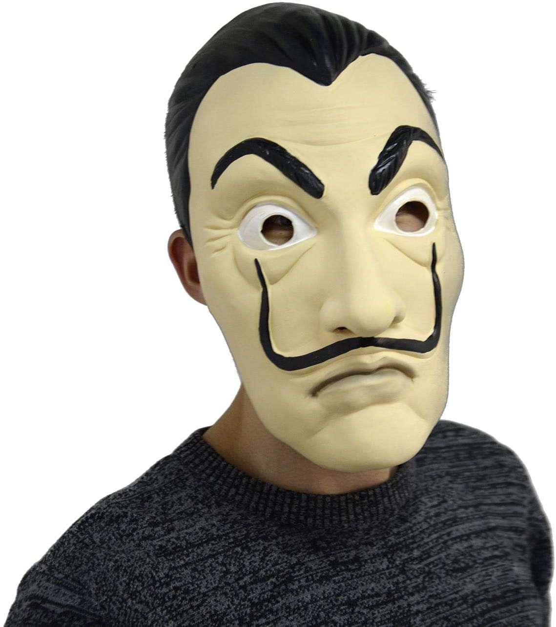 Leegicst Salvador Dali Maske Realistische Prop Gesichtsmaske Party Maske f/ür Halloween Festival,Party Maske f/ür Halloween Tanzparty Maske-A
