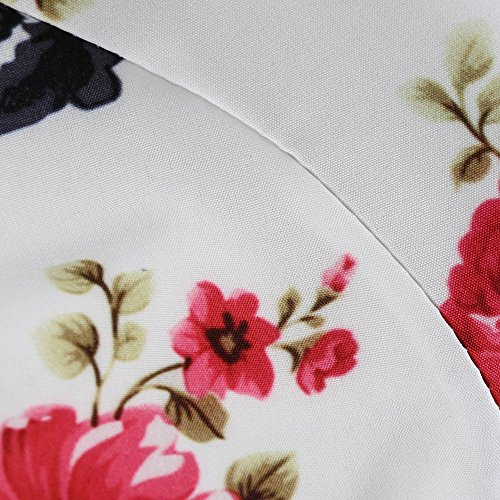 Birdfly Robe Rétro Jusqu'à 50 Ans De Soirée Élégante Longueur Du Genou Longue Robes Imprimé Floral Pour Les Femmes De Type: 95