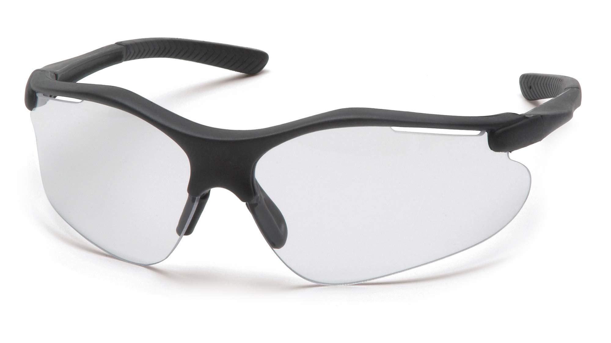 Pyramex Fortress Safety Eyewear, Clear Lens With Black Frame