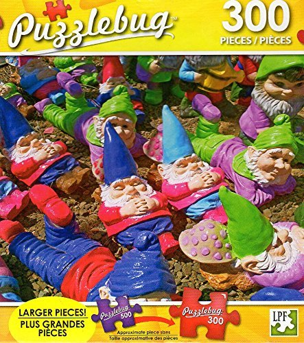 Resting Garden Gnomes - 300 Piece Jigsaw Puzzle Puzzlebug