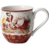 """Villeroy & Boch Toy's Fantasy Mug XL """"Atelier du père Noël"""", 530 ml, Porcelaine Premium, Rouge"""